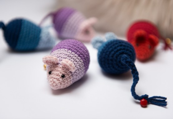 Mysz Ombre zabawka z kocimiętką i walerianą