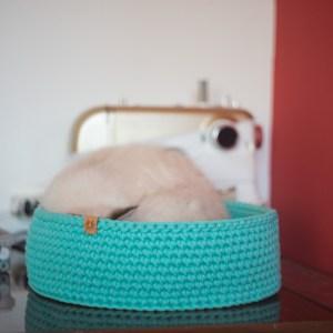 legowisko dla kota ze sznura mięta