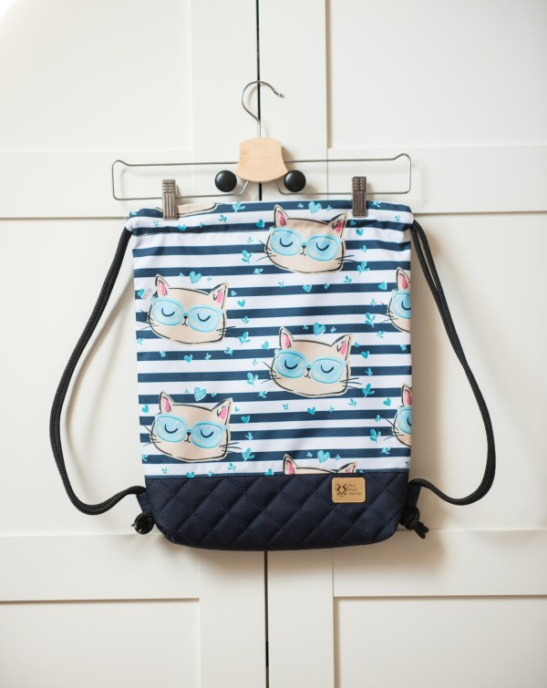 plecak worek z motywem kotów