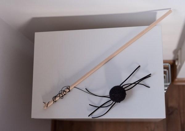 wędka dla kota pająk