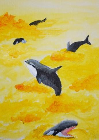 Spielende Orcas