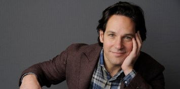 "Paul Rudd, a cast member in the film ""This is 40,"" poses for a portrait at The Four Seasons Hotel on Wednesday, Dec. 12, 2012, in Beverly Hills, Calif. (Photo by Chris Pizzello/Invision/AP)"