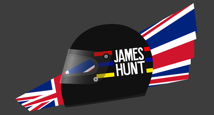 Design: James Hunt's 1976 helmet (+extra)