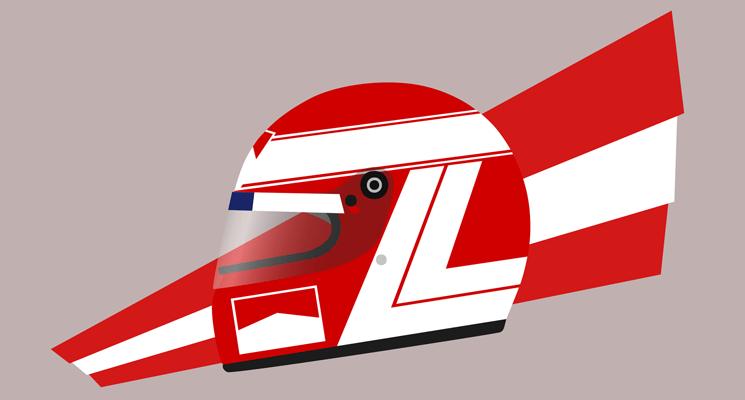 Design: Niki Lauda's 1984 helmet