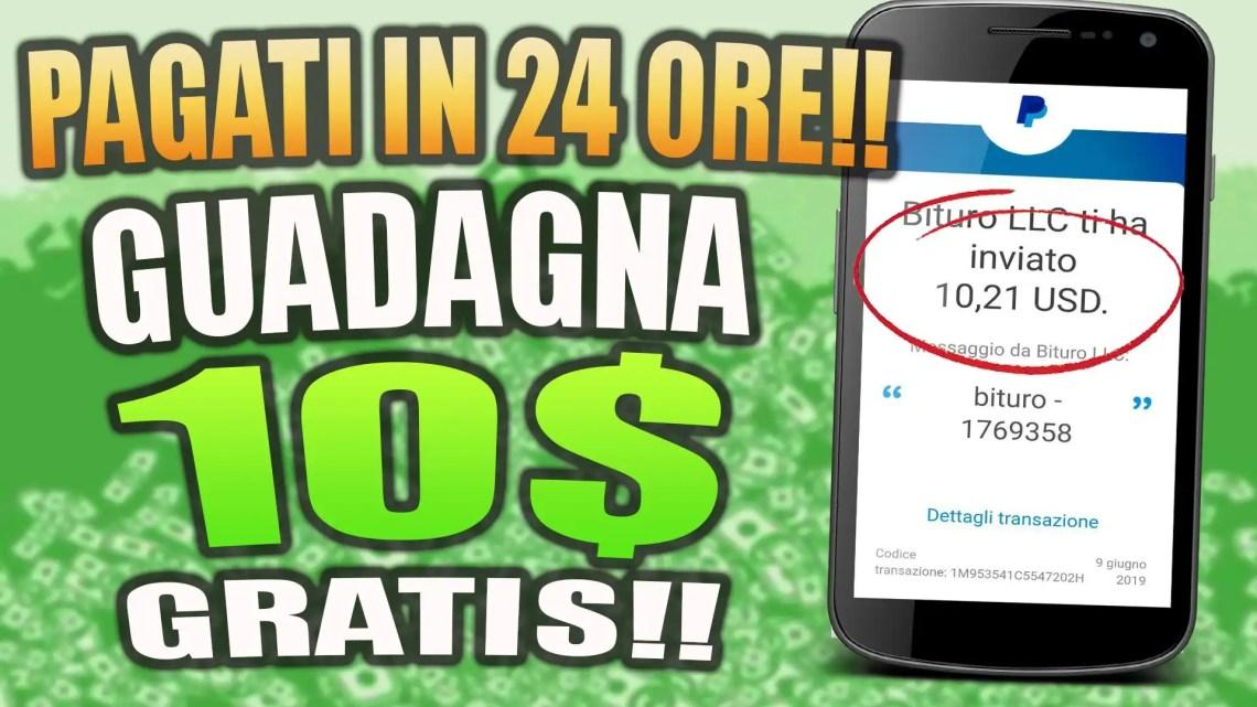 PAGATI IN SOLE 24 ORE SU PAYPAL E BITCOIN GRATIS!!