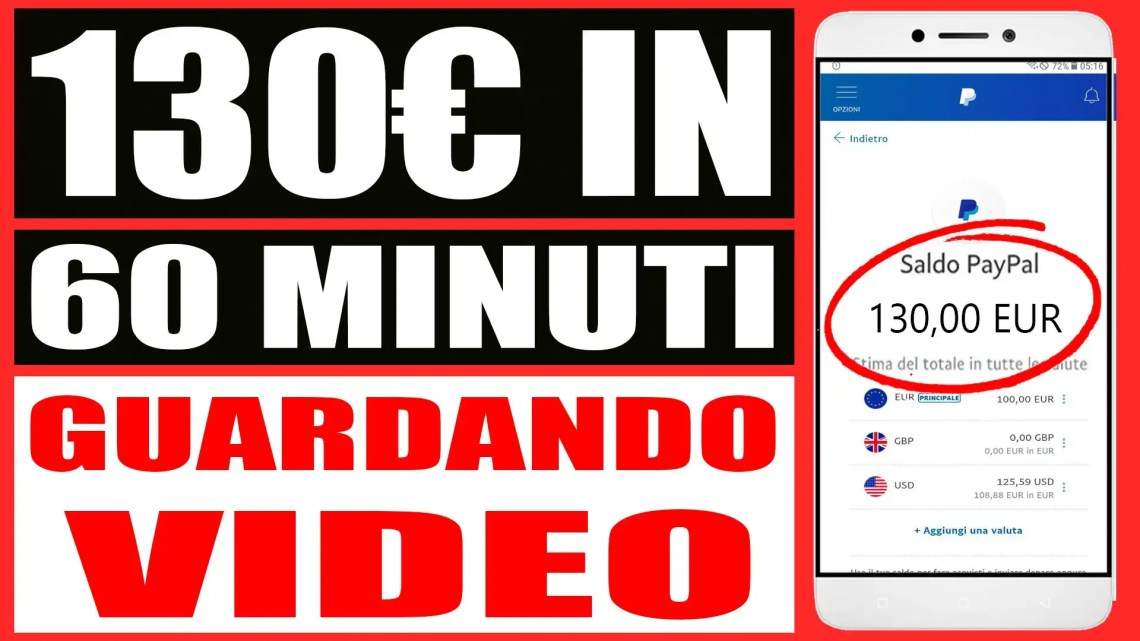 Guadagna 130€ in 1 Ora a Guardare Video