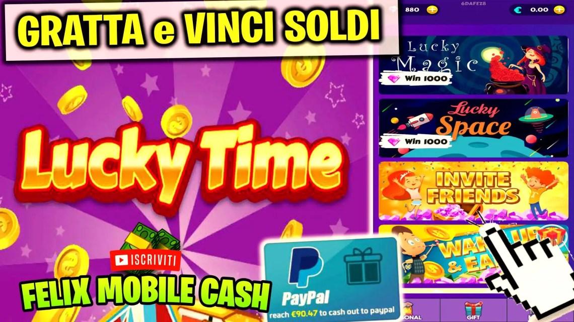 Gratta e Vinci Soldi su Paypal con Lucky Time!