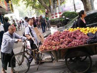 Fruit vendor along the street