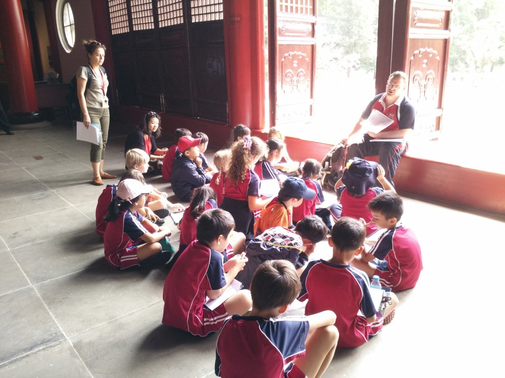 School trip to the Temple