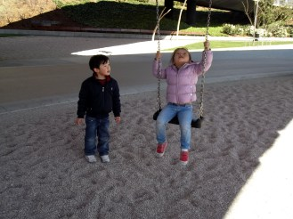 Swing and sand