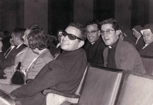 Con el P Boyerro y Goyo Alegría en una representacion