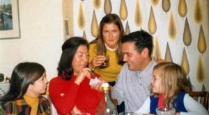 Con Charo Ochoa y familia