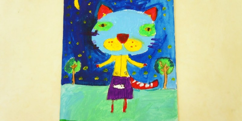 親子|台中口香糖老師兒童美術課自組班 鄭寶貝小一創作