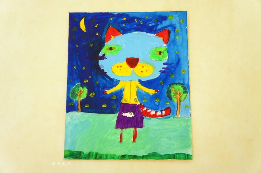 親子 台中口香糖老師兒童美術課自組班 鄭寶貝小一創作