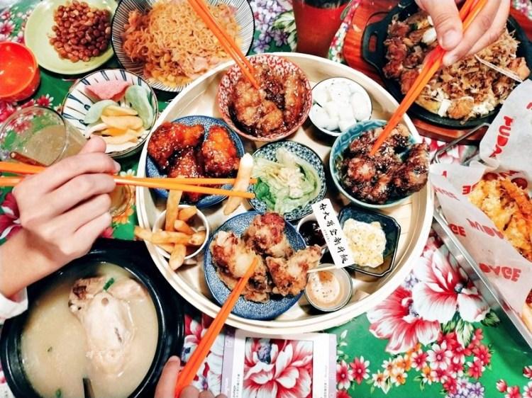 逢甲美食 朴大哥的韓式炸雞~復古餐廳吃韓式料理,炸雞套餐蒸籠上菜好吸睛,小菜免費續喔!