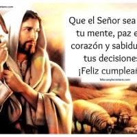 Feliz cumpleaños con imagen de Jesús