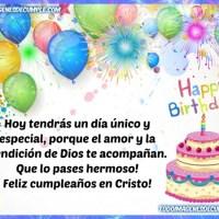 Feliz cumpleaños en Cristo