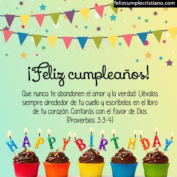 imágenes de cumpleaños con versículos y salmos de la Biblia