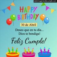 Imágenes cristianas de cumpleaños con los días de ABRIL