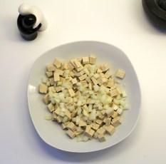 Tofu u Zwiebeln