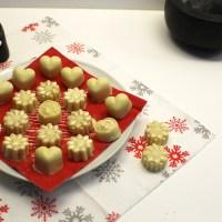 weiße Schokoladen-Pralinen mit Vanillekipferl-Füllung