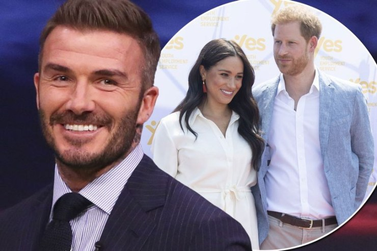 advert banner David Beckham says he is proud of Prince Harry for 'growing up' amid Megxit drama and move to Canada