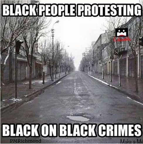 blacks protesting black-on-black crimes