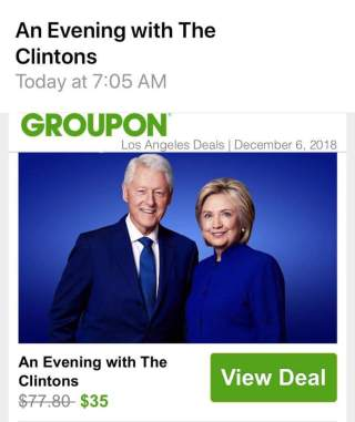 It's come to this: Bill & Hillary Clinton resorting to