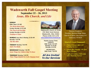 2013 Fall Gospel Meeting at WadsworthWith Emanuel Daugherty
