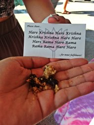 When a Hare Krishna gives you food, you eat it.