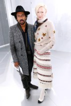 Haider Ackermann & Tilda Swinton Chanel Spring 2014 Couture style.com