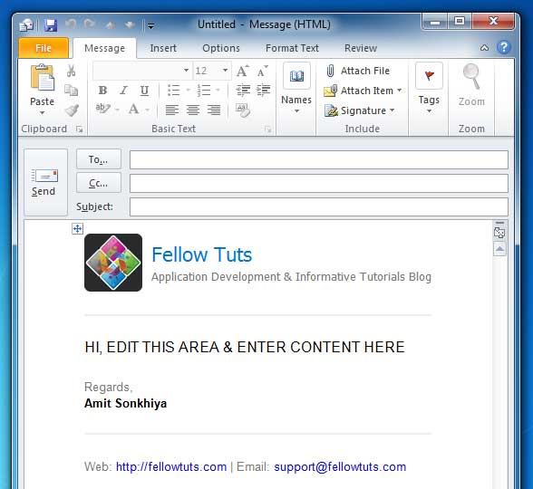 Outlook HTML Email Templates Right Way To Add Configure - Outlook html email template