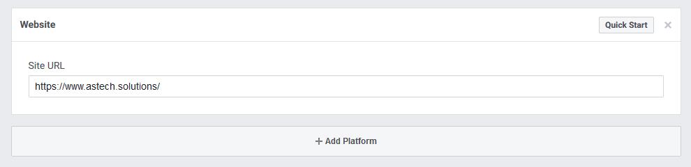 Add Site URL to Facebook Login