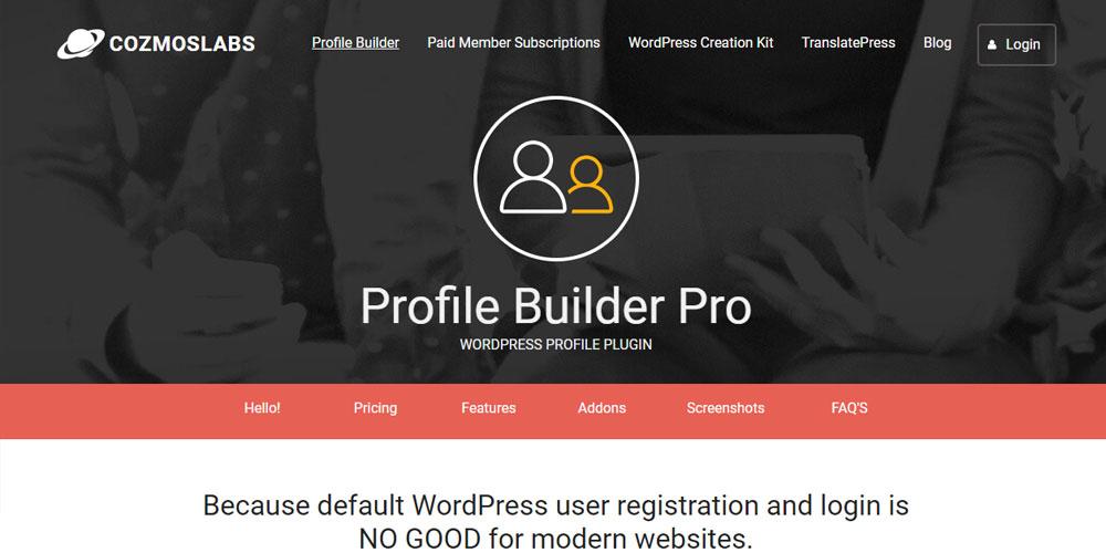 User Profile Builder WP