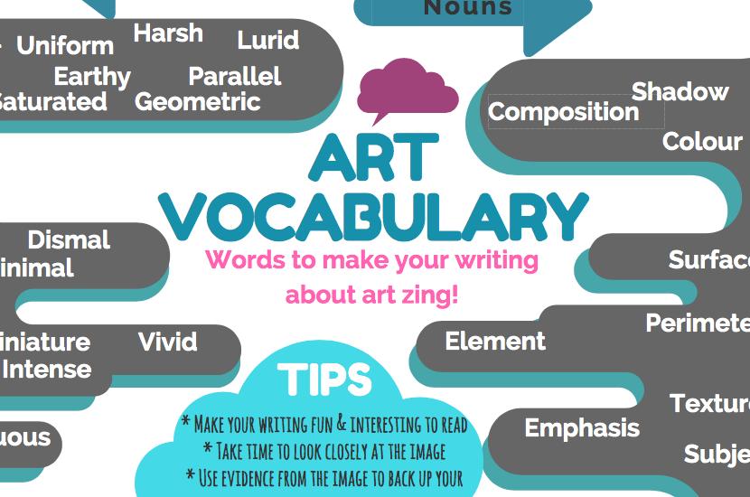 improve students art vocabulary felt tip pen