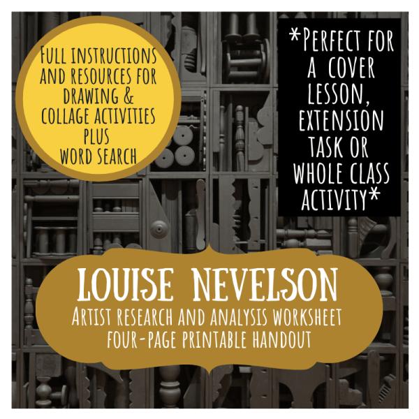 Louise Nevelson artist study worksheet