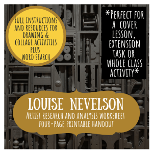 Louise Nevelson artist study worksheet