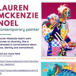 Lauren Mckenzie Noel artist inspiration sheet