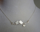 Love birds and baby necklace