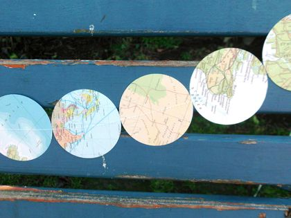 Round the World paper garland!