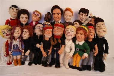 Felt Alive Needle Felted Wool Caricature Dolls by Kay Petal