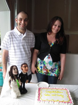 Custom-Made Needle Felted Wedding Couple