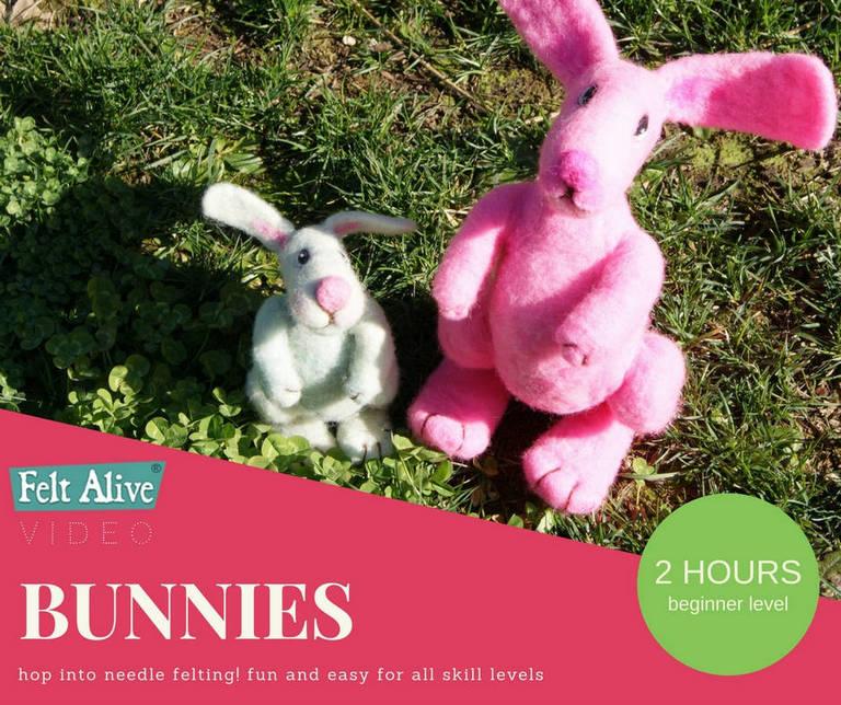 Felt Alive Bunnies Needle Felting Video Tutorial