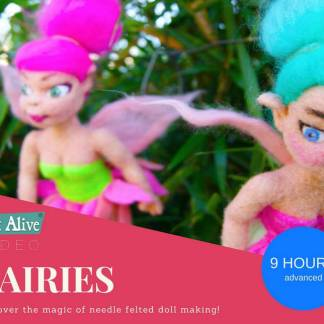 needle felted fairy dolls