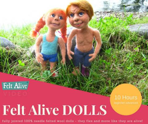 Needle Felted Dolls Video Tutorial