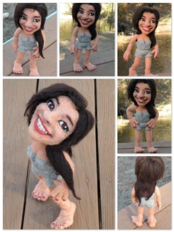 Custom Needle Felted Doll by Kay Petal