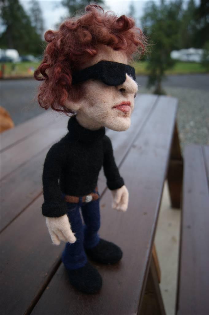Hippie Free Spirited Flower Child  Needle Felted Wool Doll Sculpture