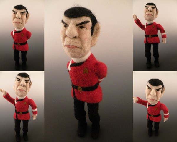 Li'l Spock Doll - Needle Felted Doll by Kay Petal
