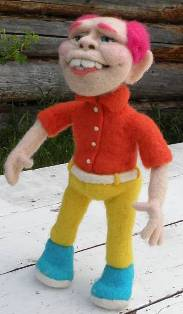 Andy Needle Felted Wool Doll