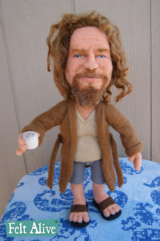 The Dude from The Big Lebowski - needle felted doll